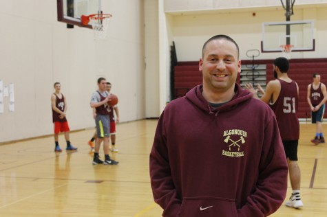 Mocerino, now, in the midst of coaching the boys' basketball team.