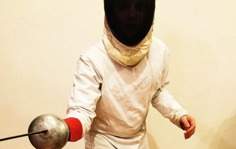 Andreev lunges toward fencing experiences