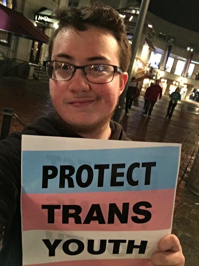 Sophomore+Eli+Cohen-Gordon+attended+a+rally+in+Boston+against+President+Trump%27s+reversal+of+former+President+Obama%E2%80%99s+protections+of+transgender+students.+