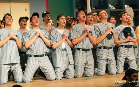 The Baseball Players looking up towards heaven saying they they should be
