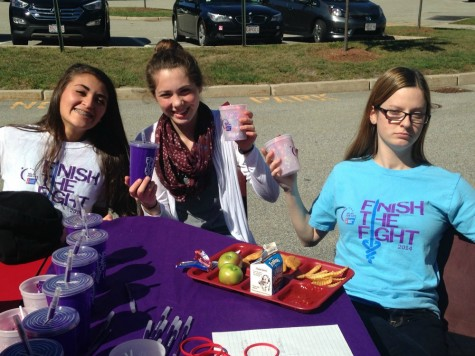 """Julia Gittlin, sophomore, a part of the club, relay for life says they want to help """"Finish the fight of cancer and plan the relay event."""""""