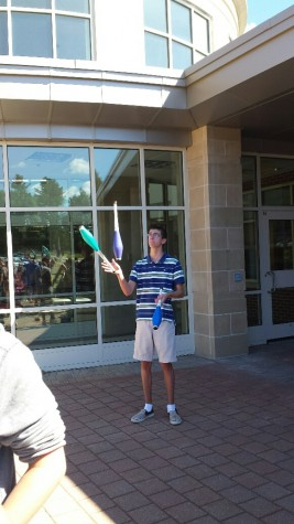 Senior Garret Maglio juggling.