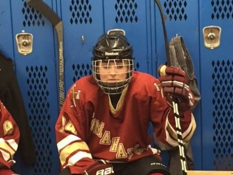 Before her game, sophomore hockey player Julianne Sacco prepares herself mentally for what is to come.