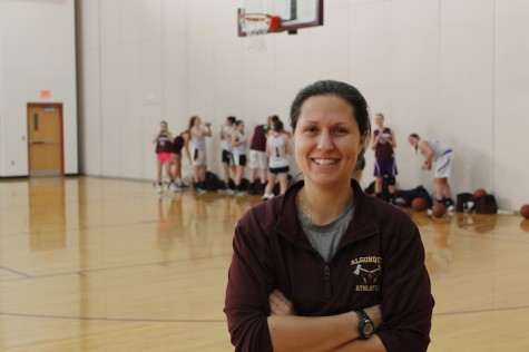 Fustino, now, coaching the girls basketball team.