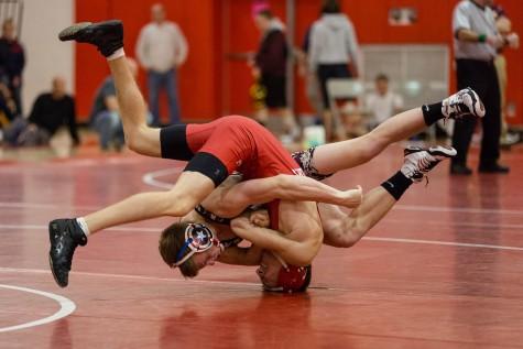 Wrestling locks in winning season