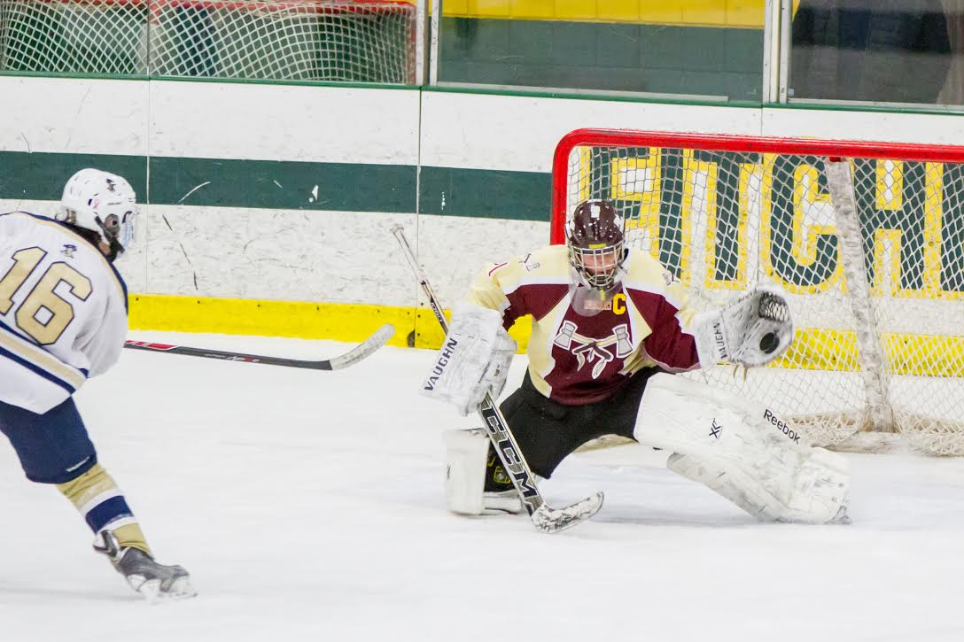 With the game winning save, senior captain Mike Tascione and the boys' hockey team clinched a bid for the CMASS final game.