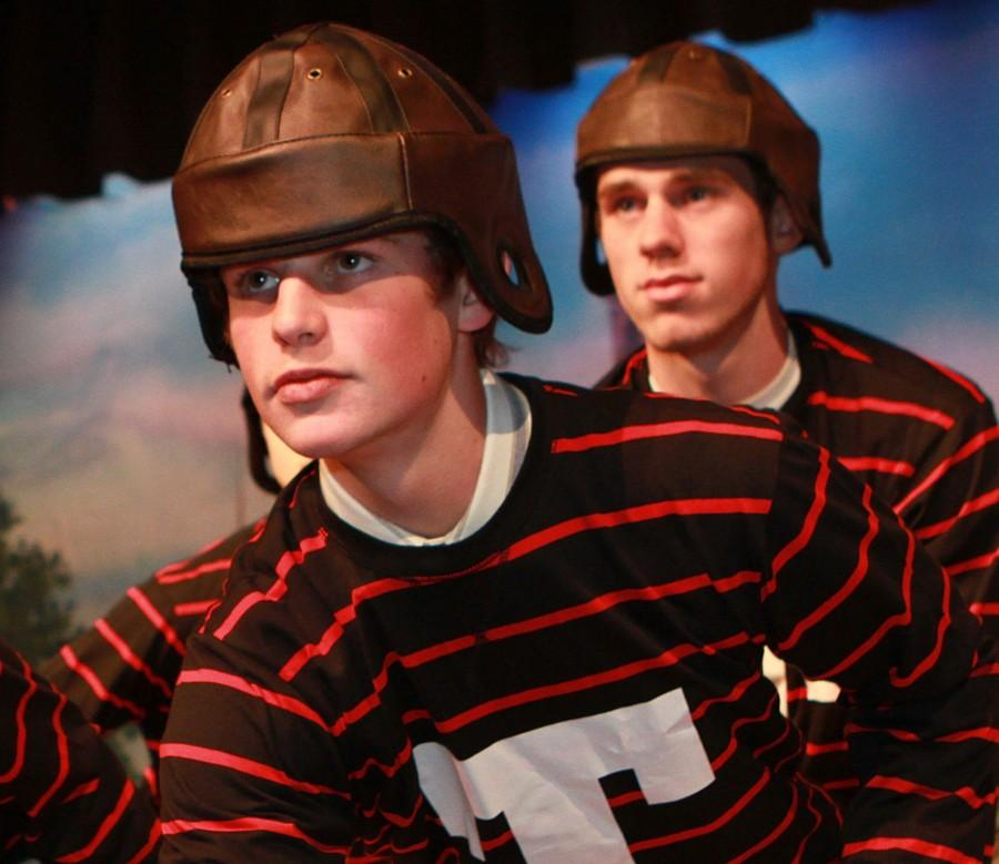 Now seniors, Chuck Murray and Ryan Barry performed in last year's musical, Good News.