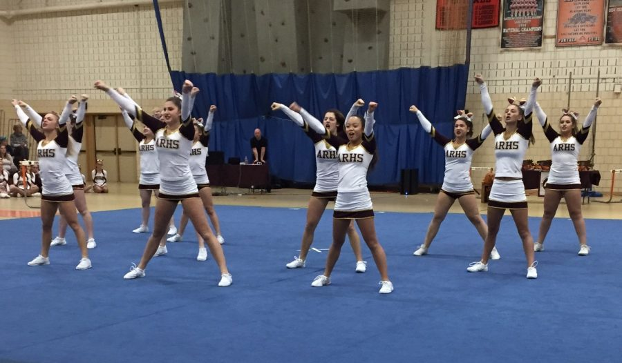 The+cheer+team+competed+at+Regionals+on+November+13.+