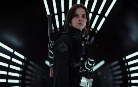 Jyn Erso (Felicity Jones) battles her way through as the heroin of the newest Star Wars movie.