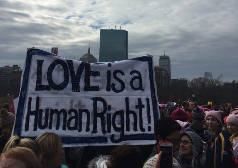 Students protest in solidarity at Women's March