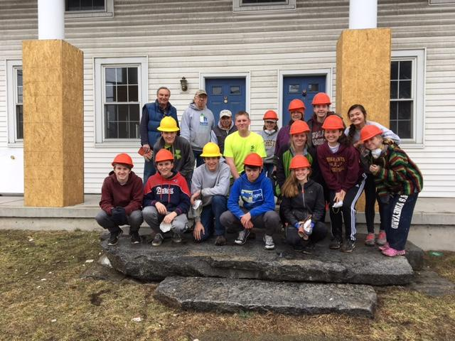 Habitat for Humanity club members helped to build and remodel a house in Northborough on March 25.