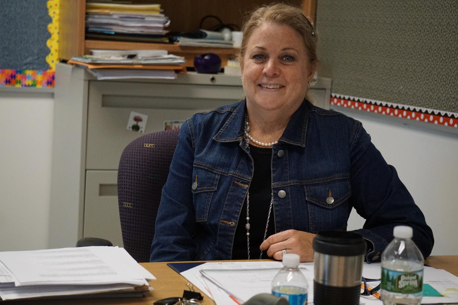 Math+department+head+Diane+DeSantis+has+brought+passion+to+teaching+math+for+twenty-four+years.