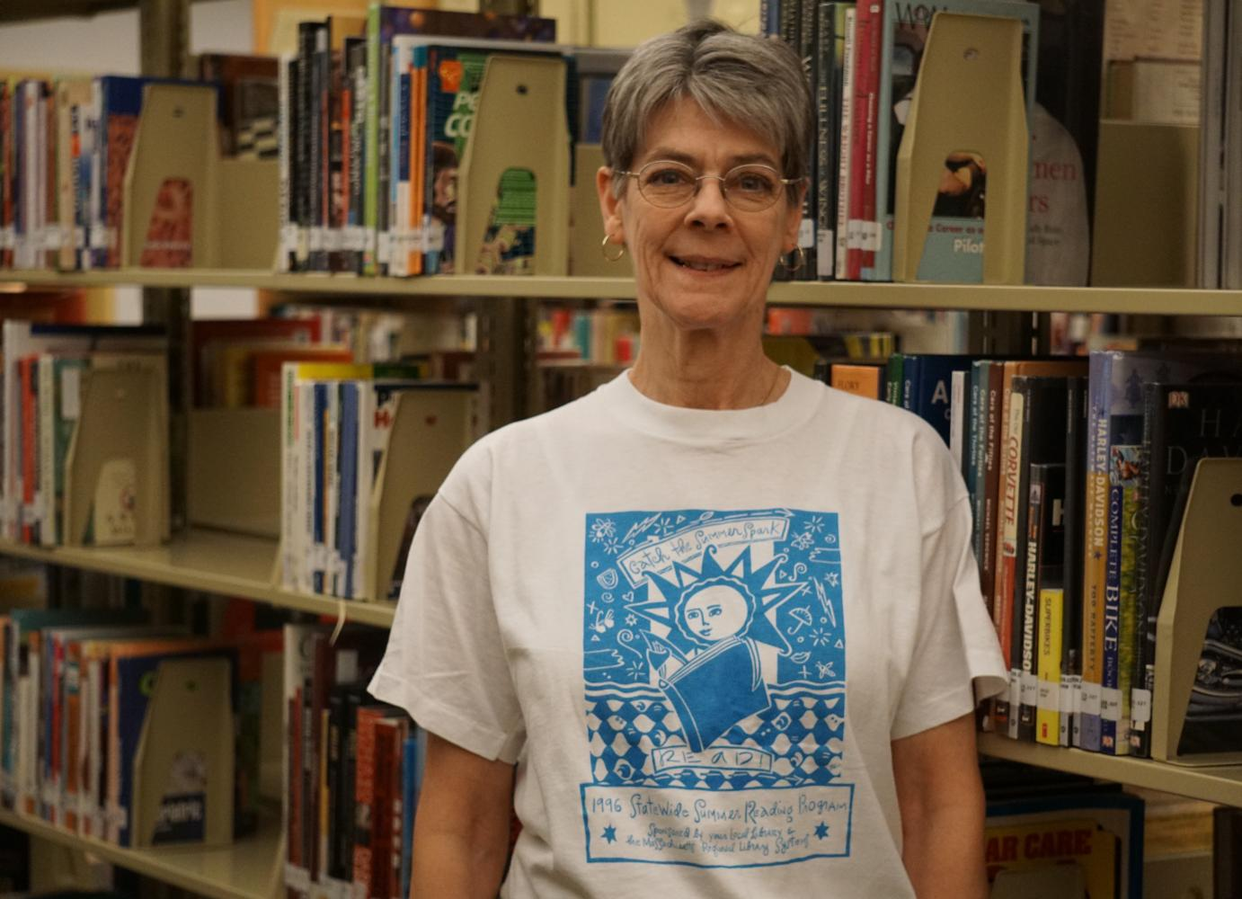 Librarian Michelle Rehill checks out after fifteen years