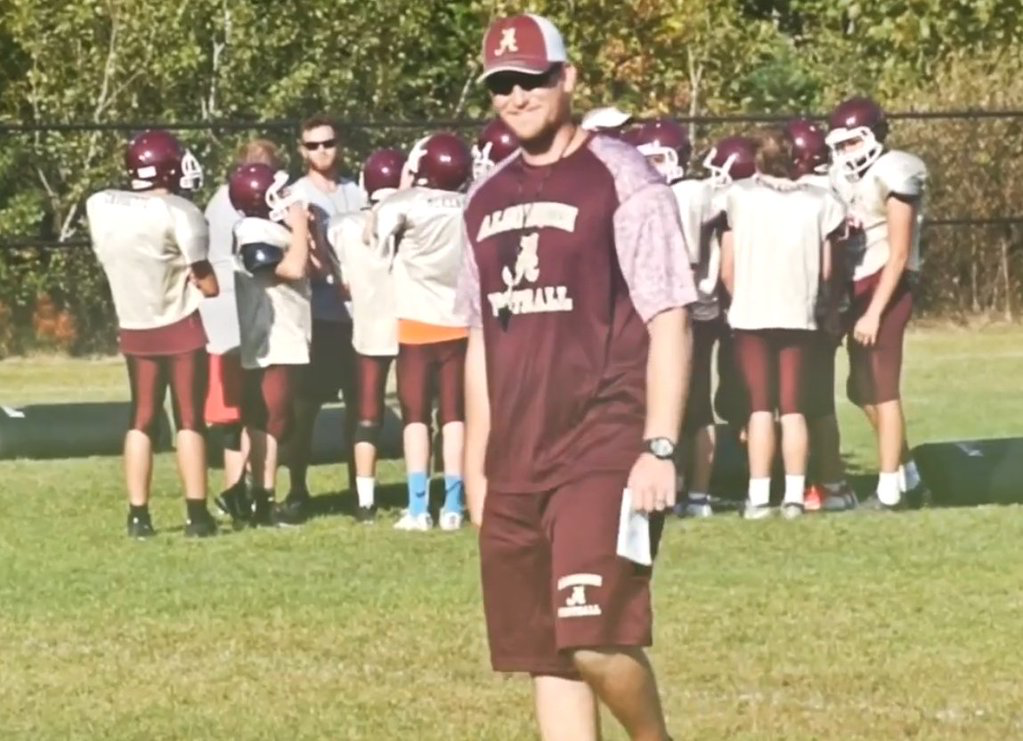 New head coach Taylor Allen prepares for the season during preseason training in August.