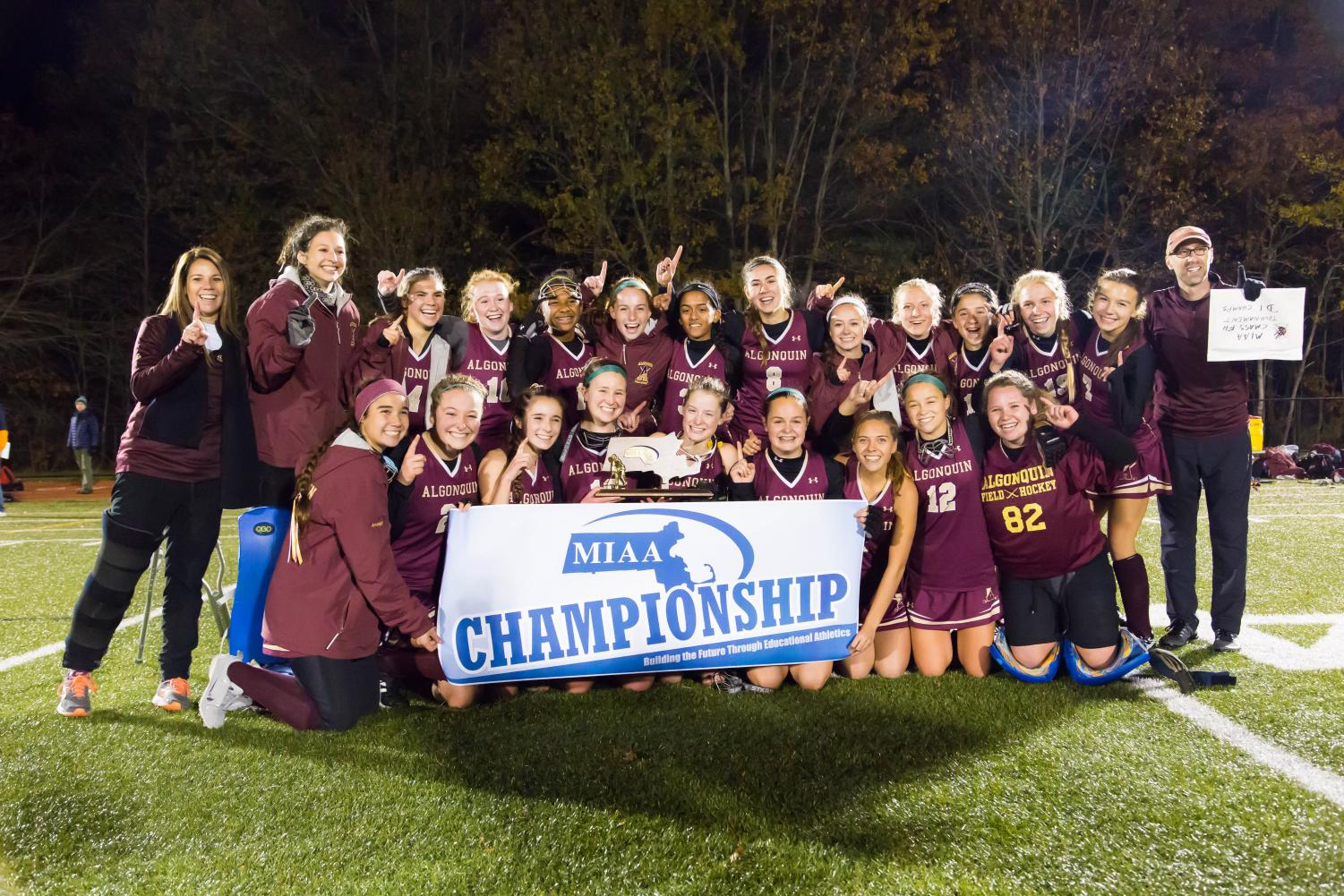 The girls field hockey team won the Central Massachusetts Championship on November 10, with a score of 1-0.