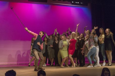 """Fashion and retail class designs costumes from recycled materials for """"Legally Blonde"""""""