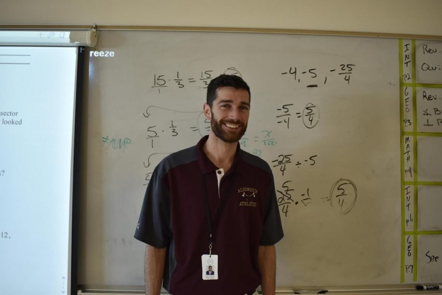 Math teacher Patrick Galvin recently joined the Algonquin community, hoping to make a positive contribution in his department.