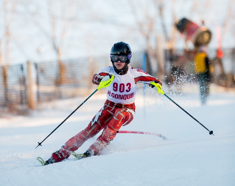 Senior+Andrew+Mihalek+skis+down+the+slope%2C+contributing+to+the+success+that+the+ski+team+had+acquired+during+leagues.+