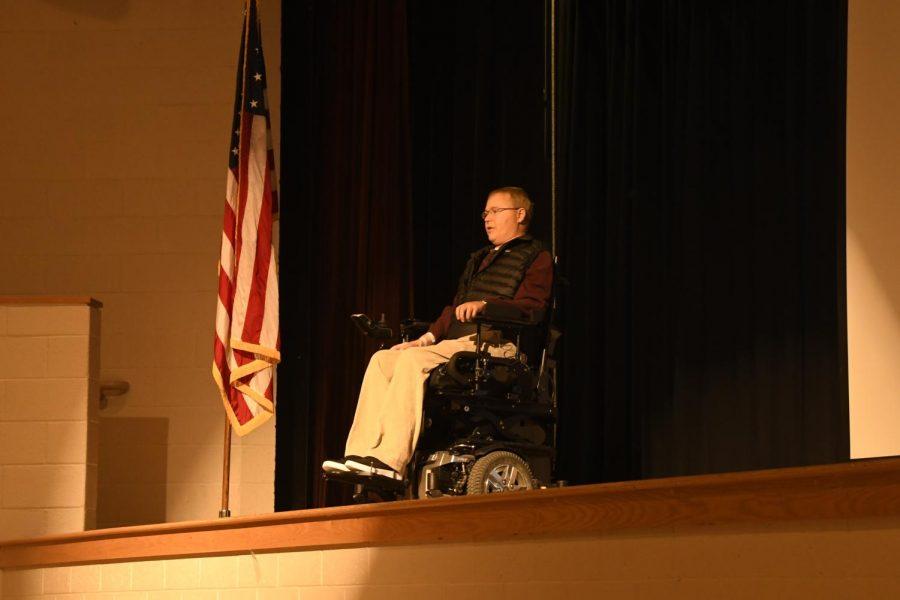Speaker Travis Roy shares story of perseverance