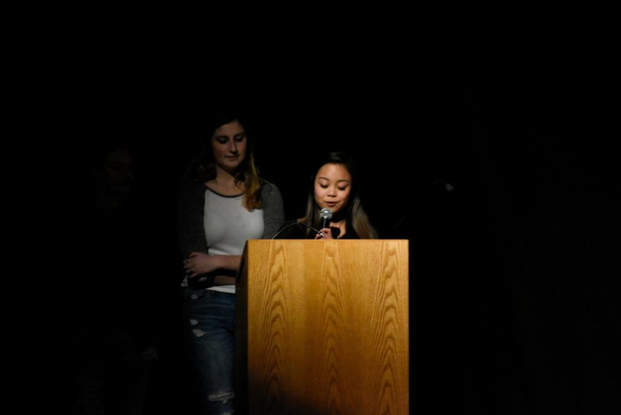 Seniors Olivia Truong and Kimmie Skinner use their student voice to advocate for safe driving to their peers.