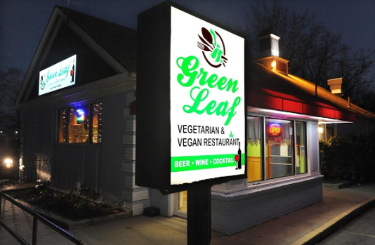 An excellent and healthy variety of food can be found at the Green Leaf Restaurant in Framingham.