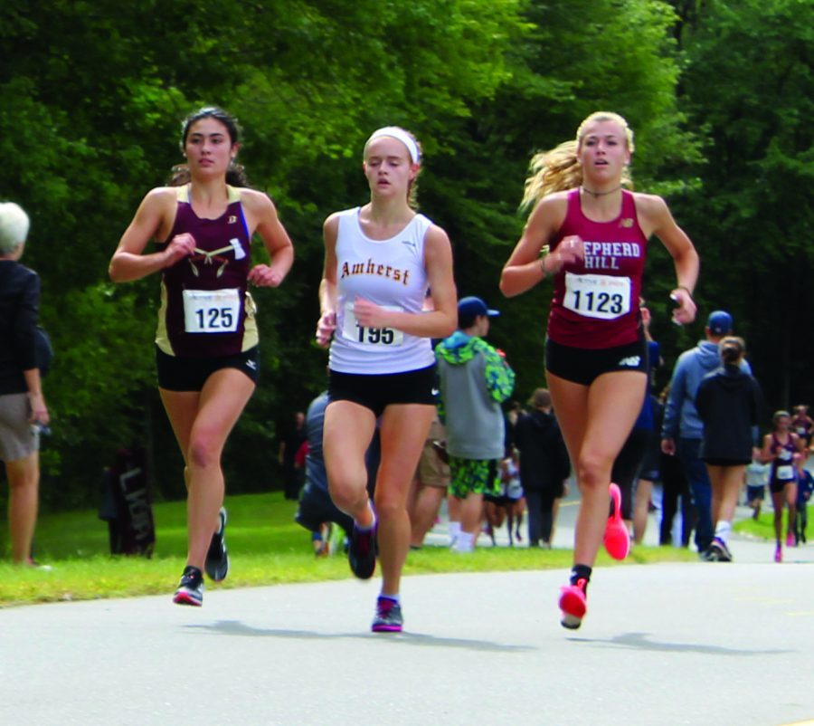 Senior Tess Reyes finished top 25 at Amherst on Saturday, September 22.