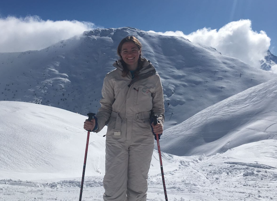 Senior Veronika Jaster takes a ski trip to the French Alps during her study abroad experience.