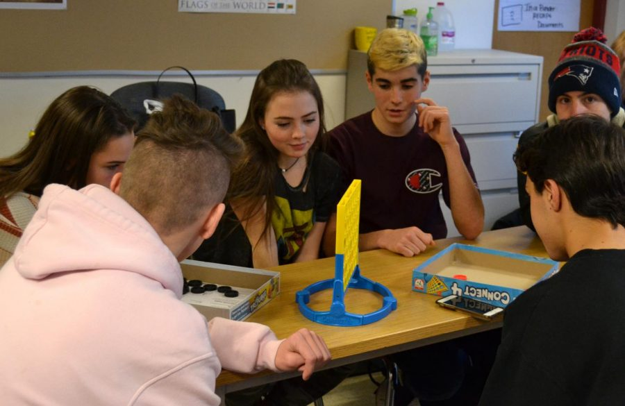 """Labeled """"No phones and human connections,"""" the STEP offered by social studies teacher Gregory DeCosmo inspired students to interact with their peers without the use of technology."""