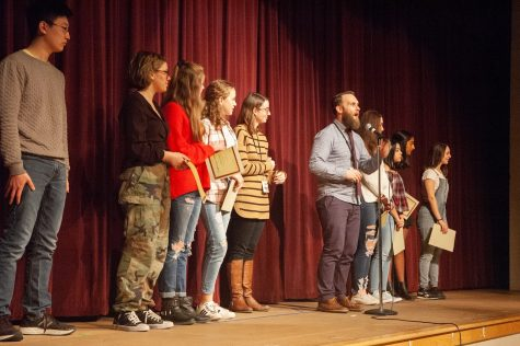 Students compete for spot in state semi-finals at Poetry Out Loud school-wide finals