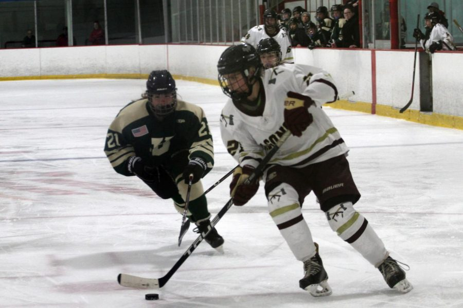Algonquin sophomore Kerryn OConnell scored a hat-trick during the first round of playoffs with a goal in the first period and an additional two in the second.
