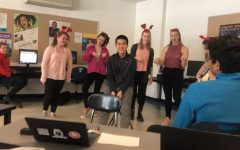 Tri-M serenades students with singing valentines