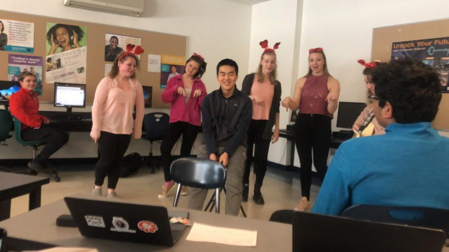 Tri-M serenades students with singing valentines