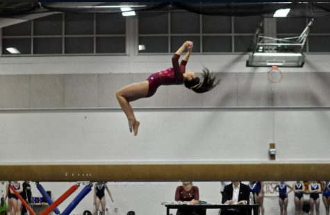 Gymnastics celebrates seniors after nearly undefeated season