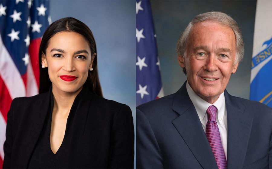 Senator+Ed+Markey+%28D%29+of+Massachusetts+and+first-term+Congresswoman+Ocasio-Cortez+%28D%29+of+New+York+proposed+the+Green+New+Deal+with+the+goal+of+sparking+conversation+about+climate+change%2C+and+providing+a+bold%2C+innovative+solution.