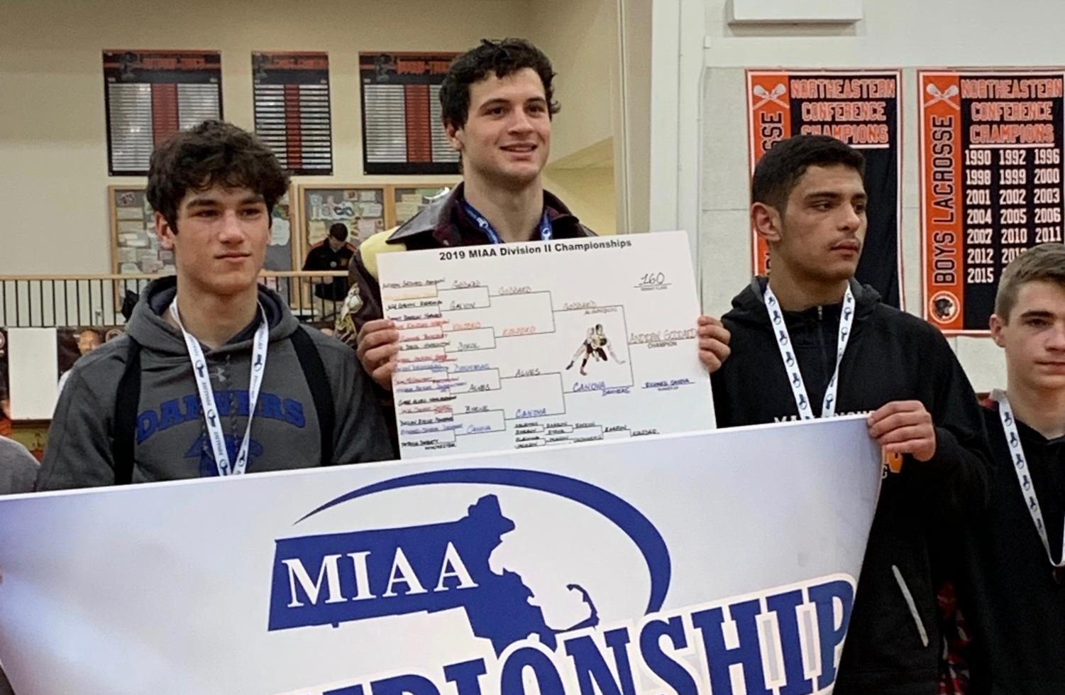 Andrew Goddard earned first place at the MIAA Division II State Tournament. He is the first state champion ARHS wrestler since Baird Lashley in 1988.