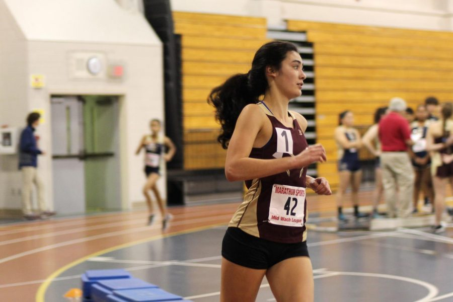 Senior Tess Reyes broke the school record for the two mile with a time of 11:02 at Regionals on March 3 where she finished 7th.