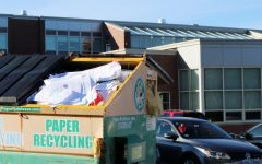 Paper piled up as recycling put on hold
