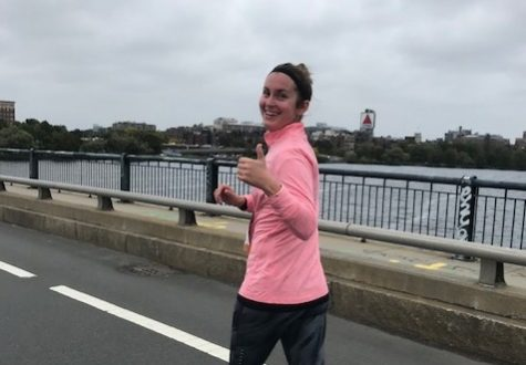 Running for a cause: Mulcahy trains for Boston Marathon, raising money for cancer research