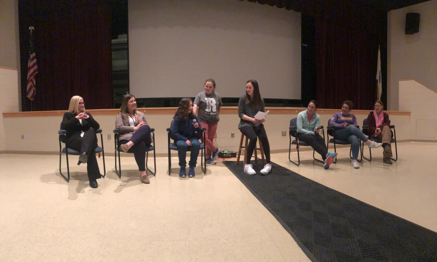 Towards the end of the inclusion assembly on March 14, a panel of students and teachers shared why inclusion was important to them.