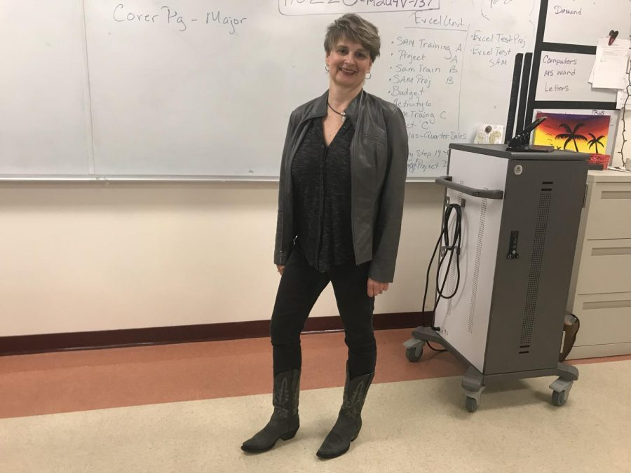 Applied Arts and Technology teacher Christine Ferreira started taking lessons for line dancing in 2008 and has continued this passion ever since.