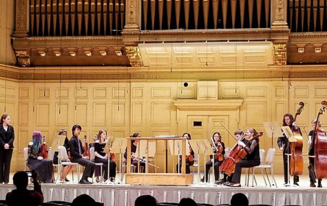 String Orchestra performs at Symphony Hall for first time in school history