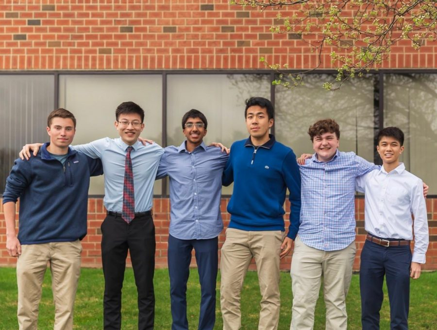 [From left to right] Juniors Kevin Tucker and Joe Zhang, sophomore Bharathan Sundar, senior Chris Wang, sophomore David Gillingham and junior Oscar Hong make up the team behind The Internship Initiative, a start up whose goal is to provide high school students with internships and hopefully connections for the future.