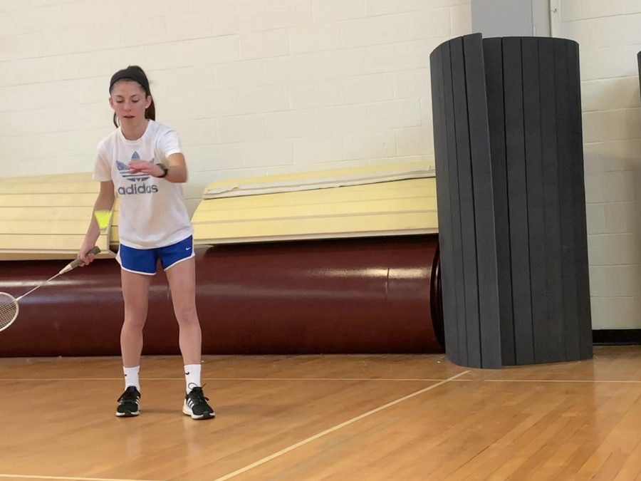 """""""Gym is my favorite class,"""" freshman Caroline Kelly, who is in the gym badminton tournament, said."""