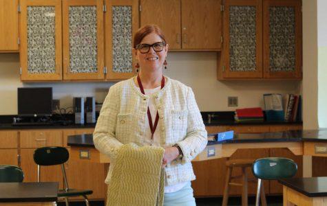 Special Education teacher Marie Porteous: weaving