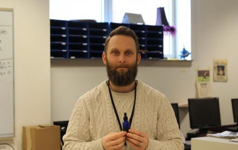English teacher Seth Czarnecki: beard oil