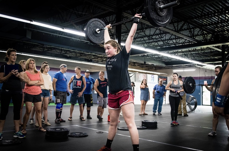 Junior Simone Fiore has been doing CrossFit since she was 12.  Now, she competes at CrossFit events and hopes to lift in the Olympics one day.