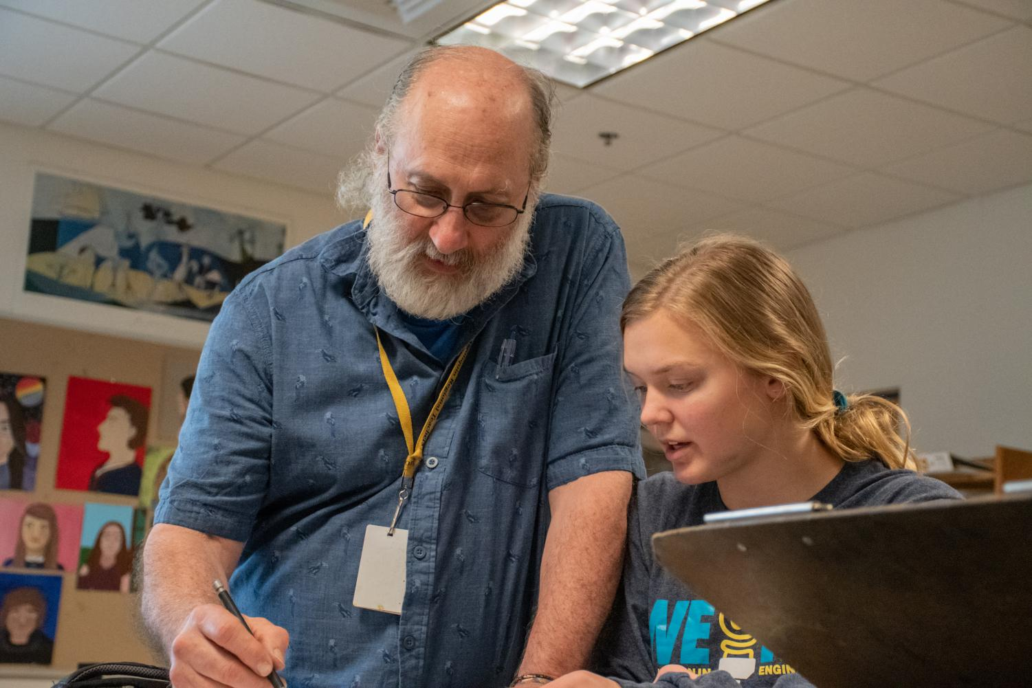 Fine and Performing Arts teacher George Hancin will retire at the end of the school year after 24 years at Algonquin.