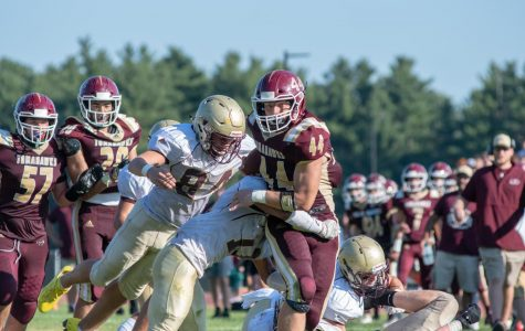 Football falls short in back and forth vs. Shepard Hill