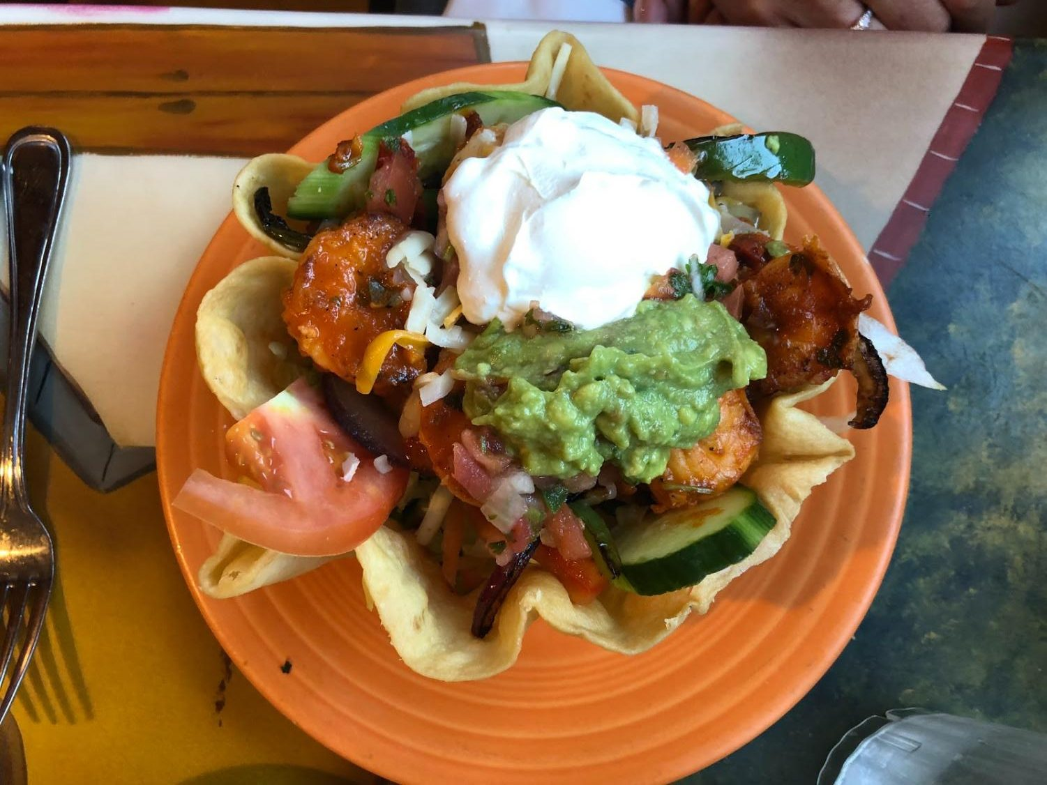 Assistant A&E Editor Amy Sullivan writes that Zarape Restaurant in Marlborough brings delicious Mexican food, like the shrimp fajita salad ($11.99), in a welcoming environment.
