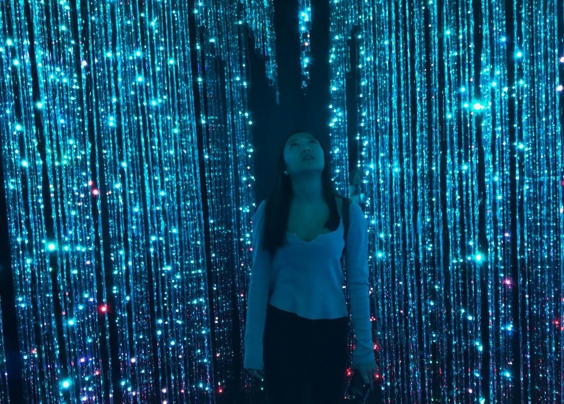 Junior Chloe Truong in an interactive art museum in San Francisco, California.   Troung did her sophomore year online in order to travel the world with her dad.